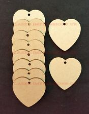 Heart Shaped Craft Embellishments, 3mm Medite MDF Decoration or Gift Tags
