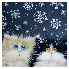 Tomcat Cards - Kim Haskins Cat Christmas Card - SNOWFLAKES - TCC-X-KH4788