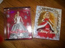 Lot of 2 2007 HOLIDAY BARBIE Mrs Claus & Holiday Barbie 2008