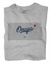 Onaga Kansas KS T-Shirt MAP