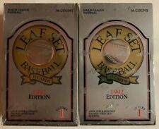 2 Unopened 1992 Leaf Baseball Boxes Series 1 Unopened 36 Packs Sealed