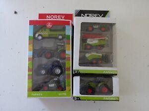 Lot de 8 Véhicules Agricoles Miniatures Tracteur  Norev 1/64 Jouets Jeux Z10
