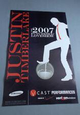 + / Justin Timberlake Concert Tour Posters 2007