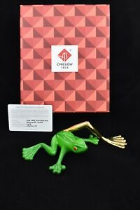 Cmielow Tree Frog Porcelain Figurine. Boxed with Certificate