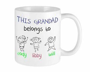 This Grandad belongs To Christmas Mug Personalised Gift For Him Grandparents