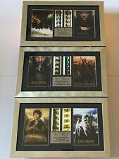 LORD OF THE RINGS - Trio set - Special Edition Film Cells Memorabilia + COA
