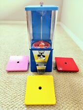 Oak Blue Bulk Vending Machine Gumball Candy Toy. Refurbished Tested.1 Wheel+Lid.
