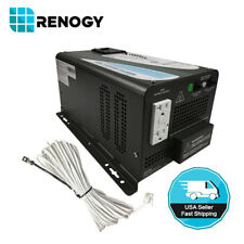 Renogy Open Box 1000W 12V DC to 120V AC Pure Sine Wave Power Inverter Charger