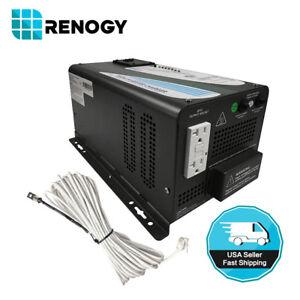 Renogy 1000W 12V Pure Sine Wave Inverter Charger DC AC Solar Power Converter