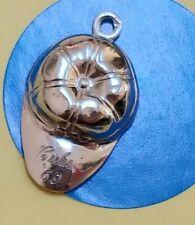 Charm E100 Baseball Cap Sterling Silver Vintage Bracelet