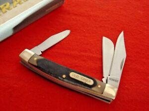 "Schrade Knives 3-1/4"" 3 Blade MIDDLEMAN Stockman Stock Knife MINT ld"