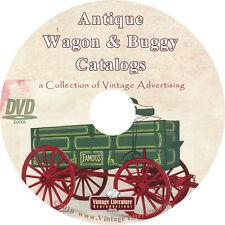 Antique Farm Wagon and Buggy { 6 Vintage Catalogs  Sears Deere Keystone } on DVD