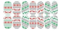 Christmas Sweater Jumper Nail WRAPS Nail Art Water Transfers Decals YD200