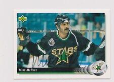 92/93 Upper Deck Mike McPhee Minnesota North Stars Autographed Hockey Card