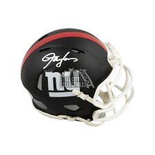 Lawrence Taylor Autographed New York Giants Flat Black Mini Football Helmet BAS