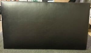 "3FT PLAIN LEATHER BLACK HEADBOARD FOR SINGLE BED - 20"" FREE DELIVERY"
