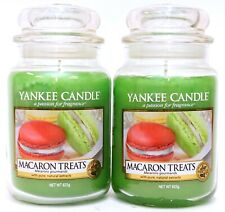 NEW Yankee Candle Lot Of 2 - 22oz/ 623g Macaron Treats Large Jar Candles