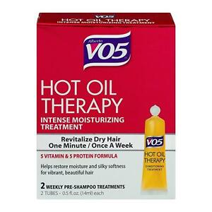 VO5 Hot Oil Therapy Classic Moisturizing Hair Treatment 1 Oz - PACK OF 3 BOXES