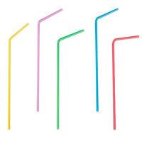 Trinkhalme Neon flexibel Ø 5 mm 24 cm Party Strohhalme 1000 Stück
