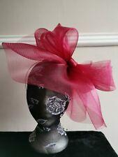 dark red burgundy fascinator millinery burlesque headband wedding hat hair piece