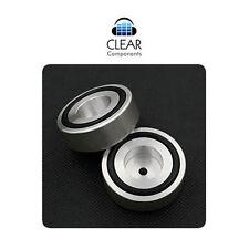 4x in alluminio dispositivi piedi 39x16 ARGENTO-CASE-AMP-Damping Feet-ABSORBER-Hifi-Highend - TOP!