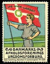 Denmark Poster Stamp - 1914 Danish Youth Temperance League