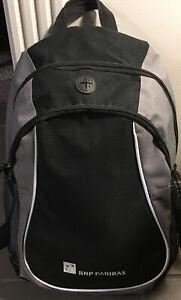 BNP Paribas Leeds Black/Gray Backpack Sports Bag Gently Used