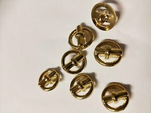 GOLD vintage  Sewing buttons total 27 buttons x size 14mm
