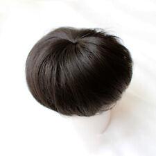 100% Human Hair Scrunchies Straight Hair Bun Extensions Clip in Hair Pieces