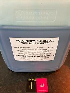15 ltr mono-propylene-glycol. (Blue Marker) . Glycol beer chiller liquid.