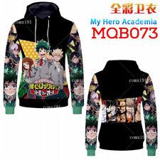 Anime My Hero Academia Hoodie Sweatshirts Todoroki Shoto Cosplay Jacket Coat New