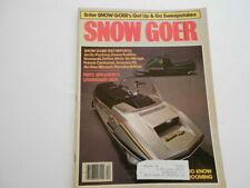 Snow Goer snowmobile magazine 1979 Jd Trailfire, Centurion, Ski-Doo brochure