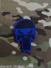 PVC Punisher Skull Thin Blue Line Law Enforcement Patch