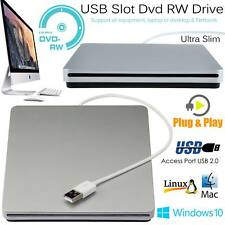 External Portable USB Slot Load DVD CD RW ROM Drive Burner Writer Windows Mac UK