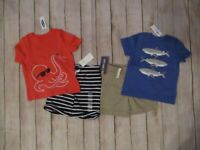 Toddler Boys 4 Piece Summer Clothing Lot Size 18 Months Outfits Sets Tops Shorts
