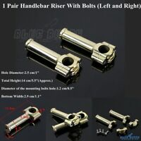 5.5'' Handlebar Riser w/Mounting Bolts 1'' Inch Bars Clamp For Harley Cafe Racer