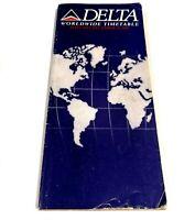 Delta Airlines Worldwide Timetable Winter December 1992 Vintage Flight Booklet