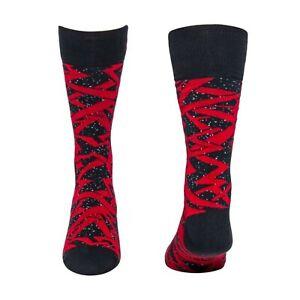 Jordan Mens Mars Crew Socks Black/Gym Red Men Socks 686942-010 Size L. 8-12