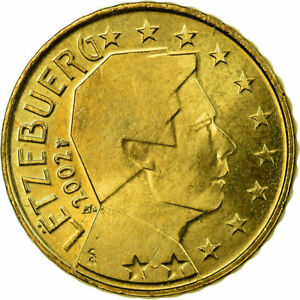 [#721330] Luxembourg, 10 Euro Cent, 2002, SUP, Laiton, KM:78
