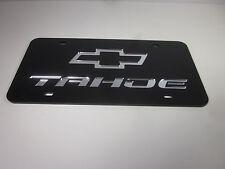 TAHOE CHEVY Acrlic Mirror License Plate Auto Tag nice