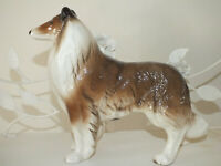 Beautiful Vintage Coppercaft Large Lassie Collie Dog Figurine