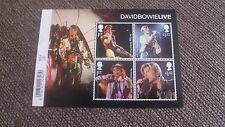 2017 David Bowie LIVE MINI FOGLIO-CON CODICE A BARRE MARGINE-Gomma integra, non linguellato-appena rilasciato