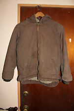Schmidt Workwear Brown Quilted Cotton Hoodie Jacket Size Youth Large 14-16