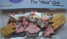 VAT Free Dress It Up The Mice Girls 5 Buttons Crafting Sewing Knitting New