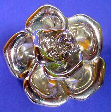 SoHo® Ketten Anhänger silber metalic Rose groß pendant Blüte retro