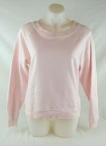 J. Crew Light Pink Long Sleeve Crew Neck 100% Cotton Sweatshirt Womens Sz Medium