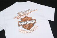 Harley Davidson Motorcycles STURGIS T Shirt Mens MEDIUM Gray Biker Riding