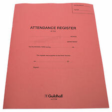5 x Guildhall School Year Classroom Form Attendance Register Books Twice Daily