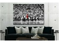 "Michael Jordan ""Last Shot 3.2"" 1998 Canvas Print Art Home Decor Wall"