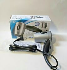 Conair 124AC Compact Travel Hair Dryer with Foldable Handle, 1600W, Silver gray